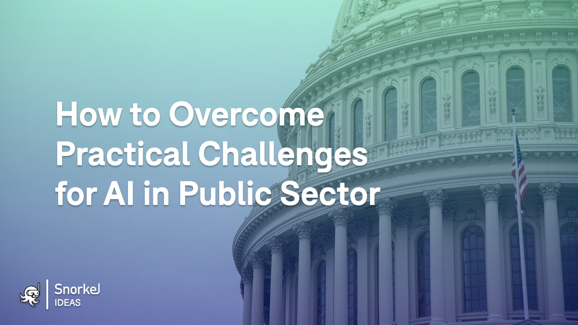 How to Overcome Practical Challenges for AI in Public Sector